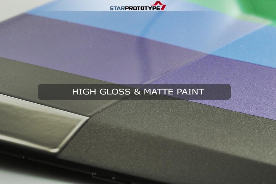 High Gloss and Matte Paint